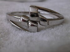 vintage heavy sterling closed cuff bracelet Italy 925