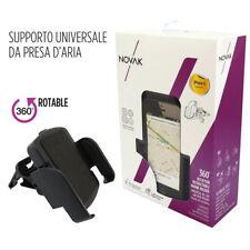 PORTACELLULARE UNIVERSALE Nero Bocchette AUTO per GPS SMARTPHONE da 45 a 81mm