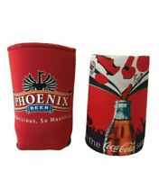 Football On The Coca Cola Side Of Life Phoenix Beer Stubby Can Holder Cooler 2x