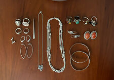 Sterling Silver Jewelry Lot Of Beautiful