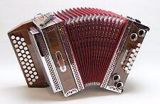 Steirische Harmonika BAYERLAND Profi Super, Michlbauer, G-C-F, Palisander # 13