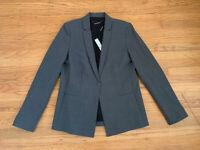 NWT Elie Tahari DARCY Womens sz 10 Stretch Wool Jacket Blazer Grey