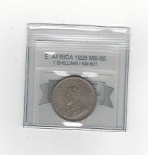 **1925**East Africa, One Shilling Coin Mart Graded**MS-65**KM# 21