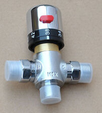 Thermostaic hot and cold water mixing valve for solar bidet spray shower system