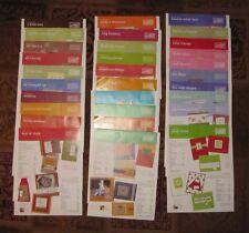 Stampin' Up!  Inspiration Sheets.  U-Pick! Titles A-G