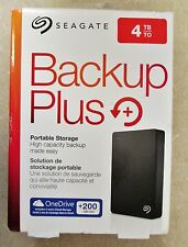 New Sealed Seagate Backup Plus 4TB Portable External Hard Drive - Free Shipping