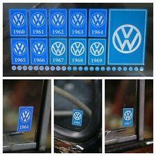 Year Window Sticker Pack for VW Volkswagen 1960 - 1969 Reverse Print - 35 Decals