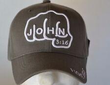 FIST JOHN 3:16 WOODLAND CAP NEW GRAY BASEBALL CAP