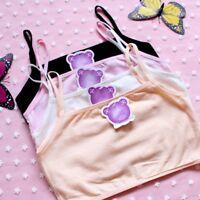 Young Girl Cotton Training Bra Puberty Teenage Underwear Unpadded Solid Bralette