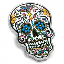 Day of the Dead Skull Lapel Pin Tie Tac NIB State Pin