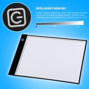 A4 LED Leuchttablett Leuchttisch Grafiktablett Lichttisch f. Zeichnen Skkizieren