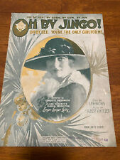 """Vintage Sheet Music 1919 """"Oh By Jingo�"""