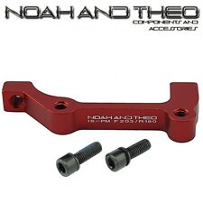 Ultralight Disc Brake Adapter Front 203mm IS Fork to POST PM Brake Caliper RED