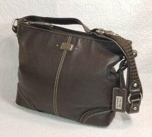 The SAK Brown Leather Shoulder Purse Bag