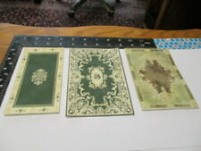 Dollhouse Miniature area rugs for 1:12 scale in green traditional