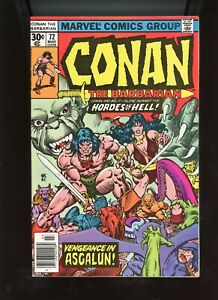 "1977 Marvel, "" Conan The Barbarian "" # 72, NM, BX72"