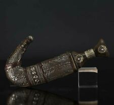 A BEAUTIFUL antique JAMBIYA DAGGER 1900 HORN WITH SILVER