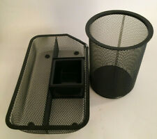 Safco Desk Organizer Office Supply Accessoriespen Holder Black Metal Mesh