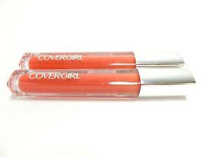 Lot of 2 Covergirl Colorlicious Lip Gloss Matte #670 Succulent Citrus Orange