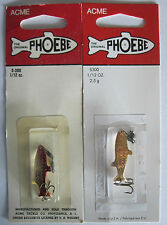 2  Acme Tackle PHOEBE Fishing Lures - 1/12 oz.- Gold & Gold/Neon Red