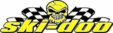"Ski-Doo skull flagsl snowmobile sticker decal 22"" x 5"""