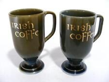 VINTAGE WADE POTTERY / PORCELAIN IRISH COFFEE MUG / CUP - GREEN & BLUE GLAZE