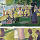 """50W""""x33H"""" SUNDAY AFTERNOON ON ISLAND OF LA GRANDE JATTE by GEORGES SEURAT CANVAS"""