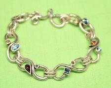"""$235 Patricia Locke 7 5"""" Endless Love Bracelet Silver Tone NEST Swarovski NWOT"""