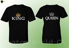 Couple Matching T-Shirt - King & Queen His and Hers - Couple TEES Love Matching