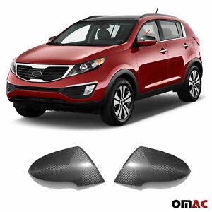 Fits Kia Sportage 2010-2014 Genuine Carbon Fiber Side Mirror Cover Cap 2 Pcs