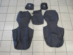 DODGE RAM 1500 2500 3500 Front Seat Covers Charcoal Gray NEW OEM MOPAR