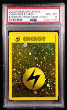 PSA 8 Lightning Energy HOLO Promo Wizards Pokemon League NM-MT Card 2000