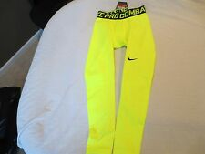 Nike Men's Pro Combat  Warm Compression Tights-596297-702 Yellow-XX-Large-NWT