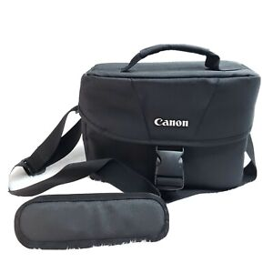 Canon EOS Shoulder Bag 200ES Black Adjustable Compartment Front Pocket, Strap