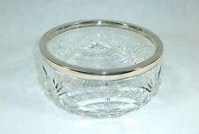 Kristallglasschale mit Silberrand 1900 Kristall Schale Silber