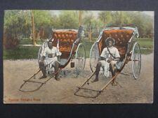 South Africa TWO TYPICAL RICKSHA BOYS & RICKSHA c1913 - Bill Hopkns Collection