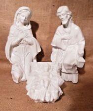 "LOVELY LARGE 9"" NATIVITY PORCELAIN JESUS JOSEPH MARY GREAT DETAIL"