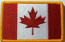 CANADA Flag Patch with VELCRO® brand fastener Military Tactical Gold Emblem