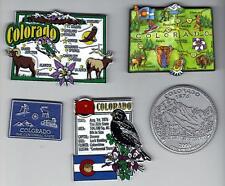 ARTWOOD  COLORADO   STATE MAP MAGNET  DENVER   COLORADO SPRINGS   PUEBLO  ASPEN