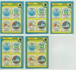1979-80 Topps Hockey NHL Draft Entries Checklist card lot Wayne Gretzky RC #261