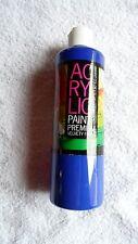 16 oz. Ultra Blue Acrylic Paint ~ Terrific Buy! ~ Free Shipping!