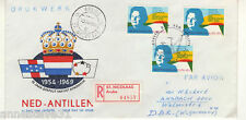 NETHERLANDS ANTILLES REG AIRMAIL FDC 1969 STATUTE 15TH