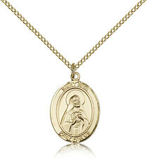"Saint Rita Of Cascia Medal For Women - Gold Filled Necklace On 18"" Chain - 30..."