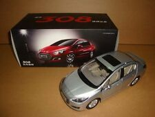 1:18 China Peugeot 308 silver color die cast model + gift