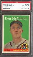 1958 TOPPS #147 DON MCMAHON PSA 8 RC ROOKIE BRAVES  *DS8332