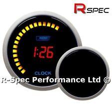 52 mm PROSPORT Rosso LCD 12 V DIGITAL TIME CLOCK GAUGE - 12 H o 24 H Display
