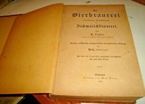 DIE BIERBRAUEREI di E. LEGLER - STUTTGART 1893 illustrato fabbricazione birra