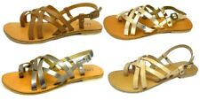 Ladies High Street LEATHER Slingback TOE-RING Holiday Sandal Summer Sizes 3 -9