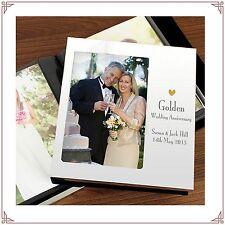 50th Golden Wedding Anniversary personalised Aluminium front Photo Album  7