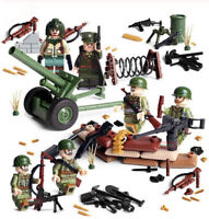 WWII US Soldiers MiniFigures Army Military USA American Toy WW2 War Set Fit Lego